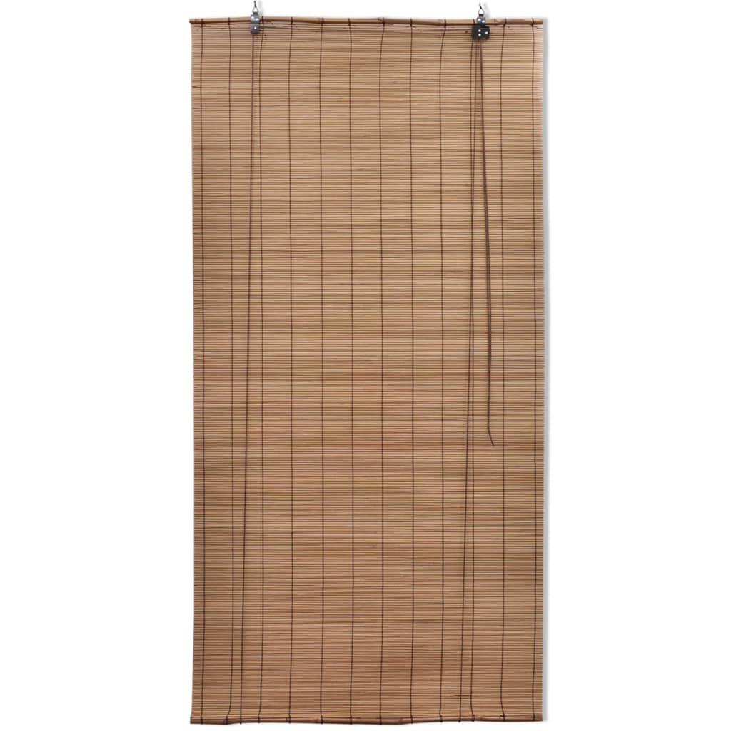 vidaXL Rullgardin bambu 100x220 cm brun
