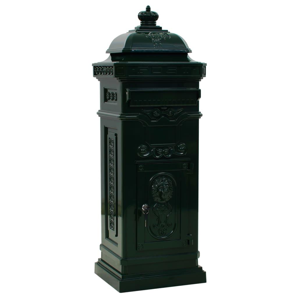 Markpostlåda vintage stil rostfri aluminium grön