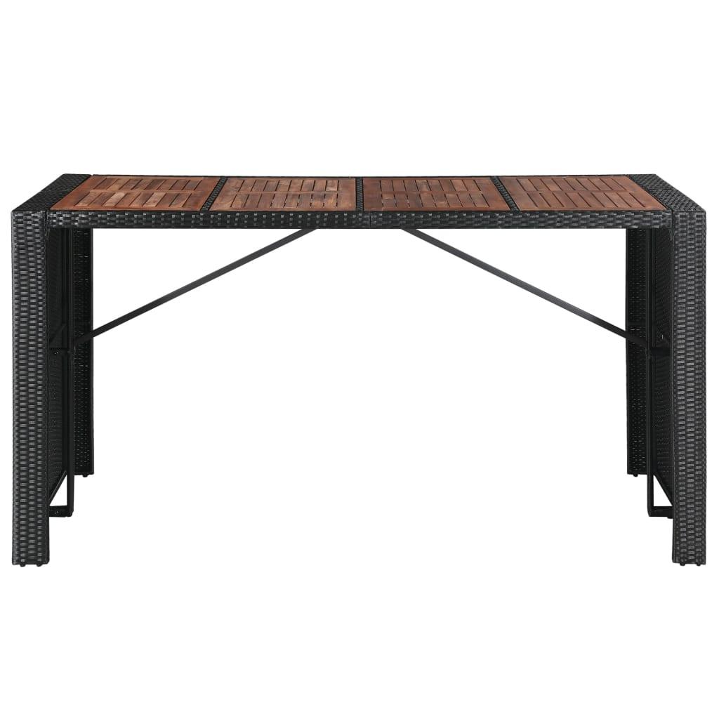 Barmöbler för trädgård 9 delar konstrotting akaciaträ svart