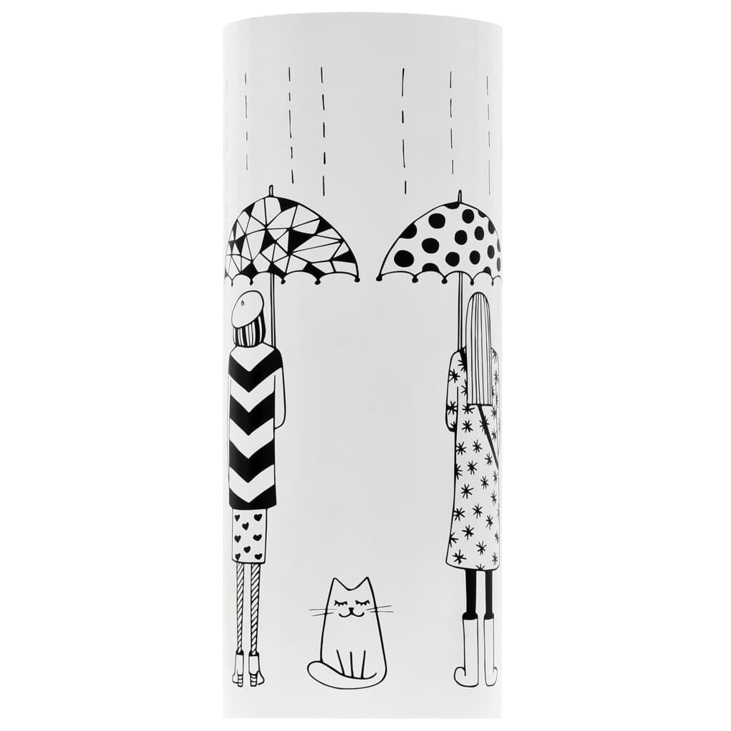 Paraplyställ kvinnor stål vit