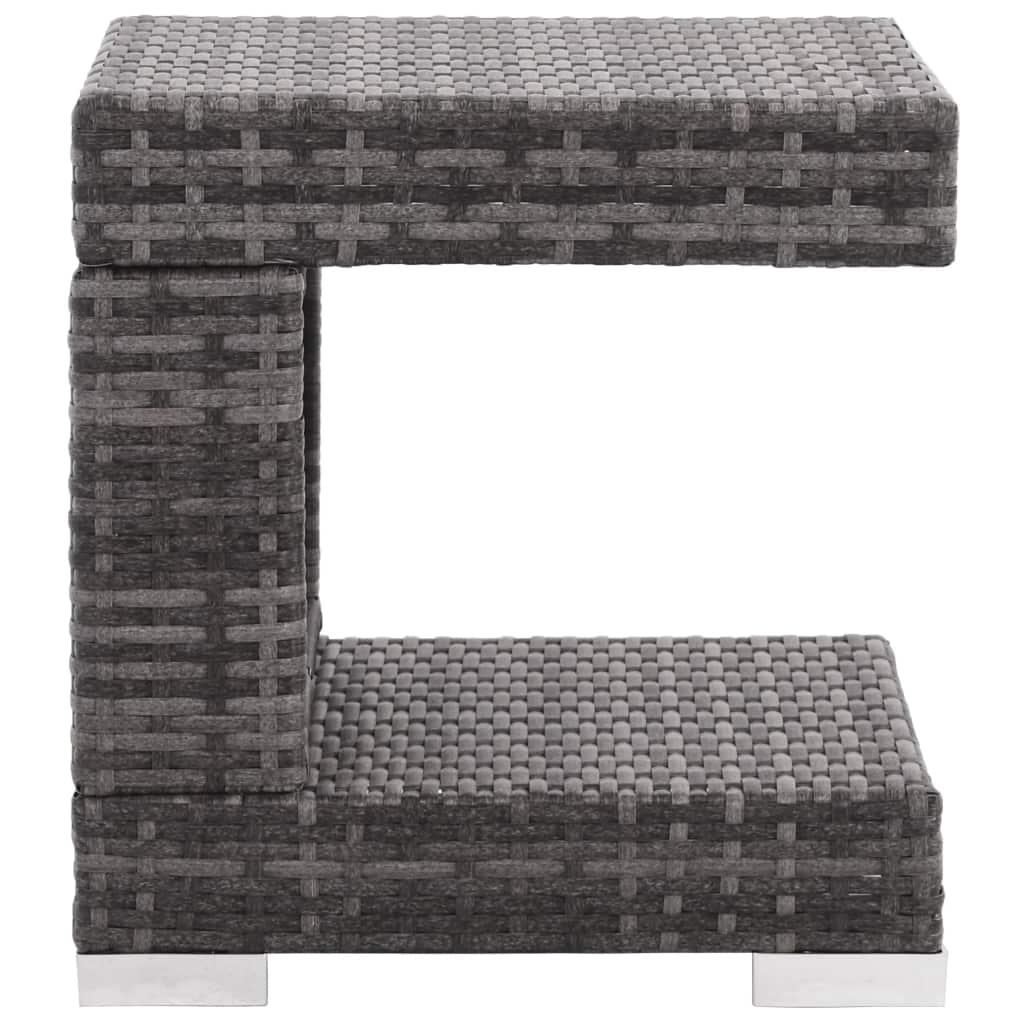 Loungegrupp för trädgården med dynor 7 delar konstrotting grå