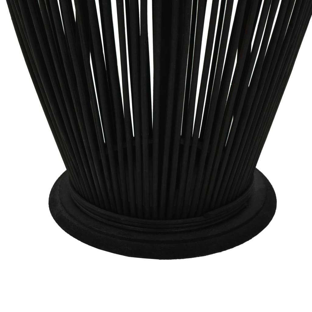 Hängande ljuslykta bambu 95 cm svart