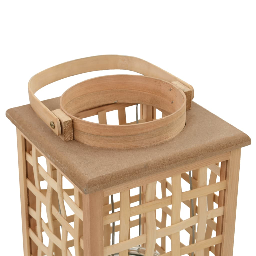 Hängande ljuslykta bambu naturlig