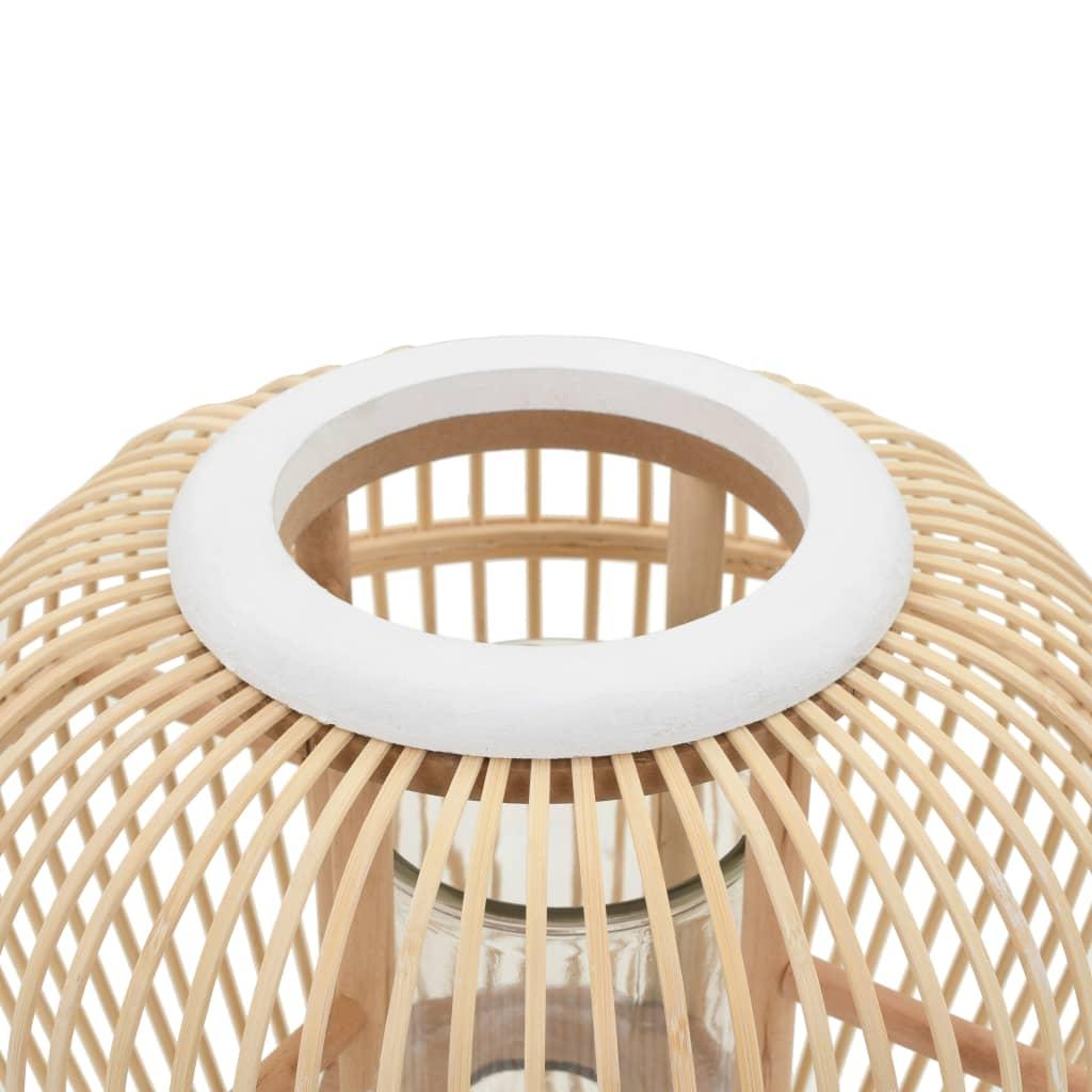 Fristående ljuslykta bambu naturlig