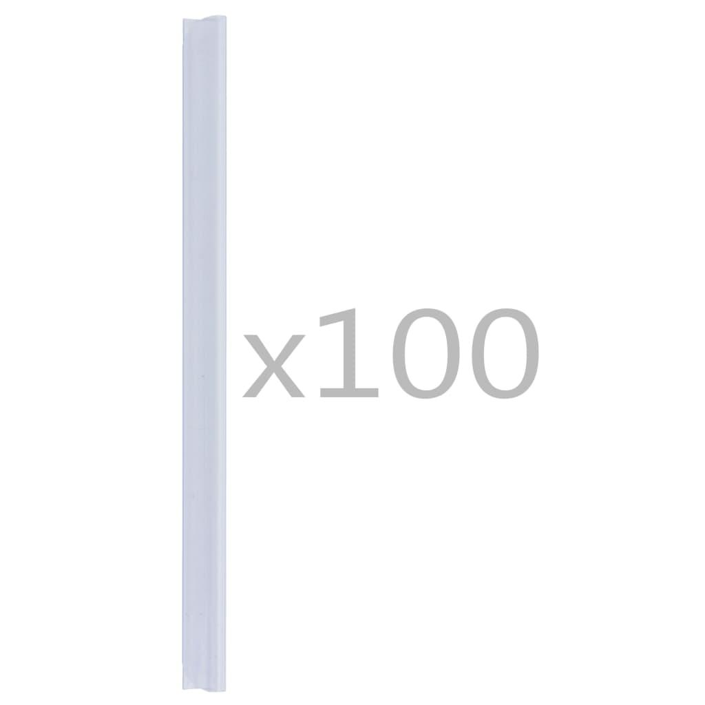 Klämmor för insynsskydd 100 st PVC genomskinlig