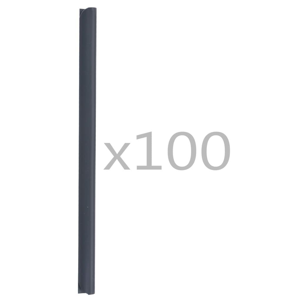 Klämmor för insynsskydd 100 st PVC antracit