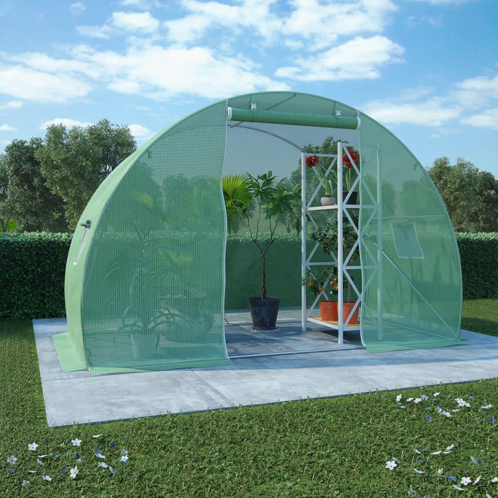 Växthus 4,5m² 300x150x200 cm