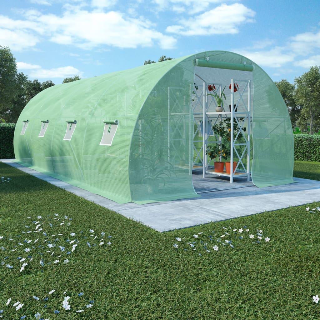 Växthus 18m² 600x300x200 cm