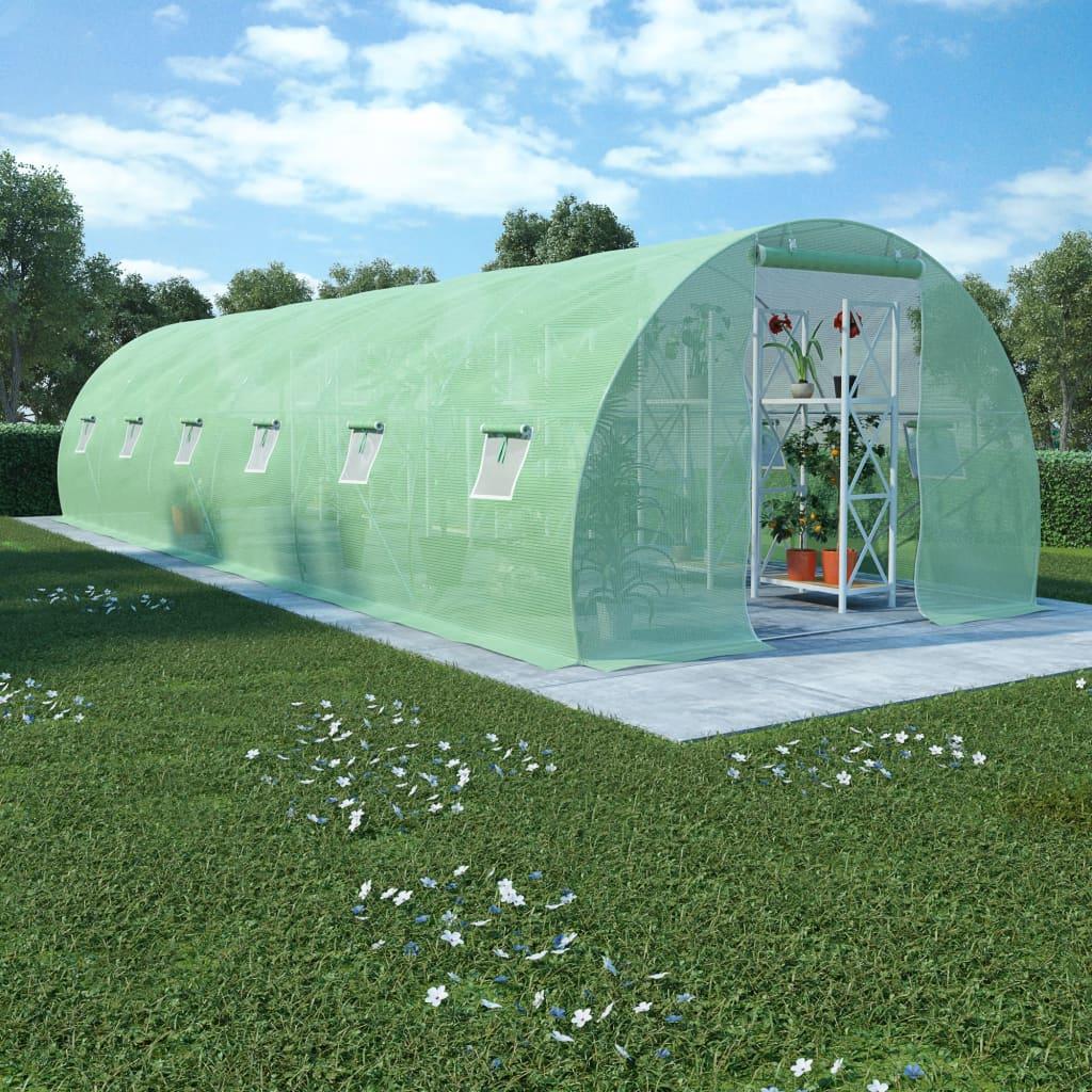 Växthus 27m² 900x300x200 cm