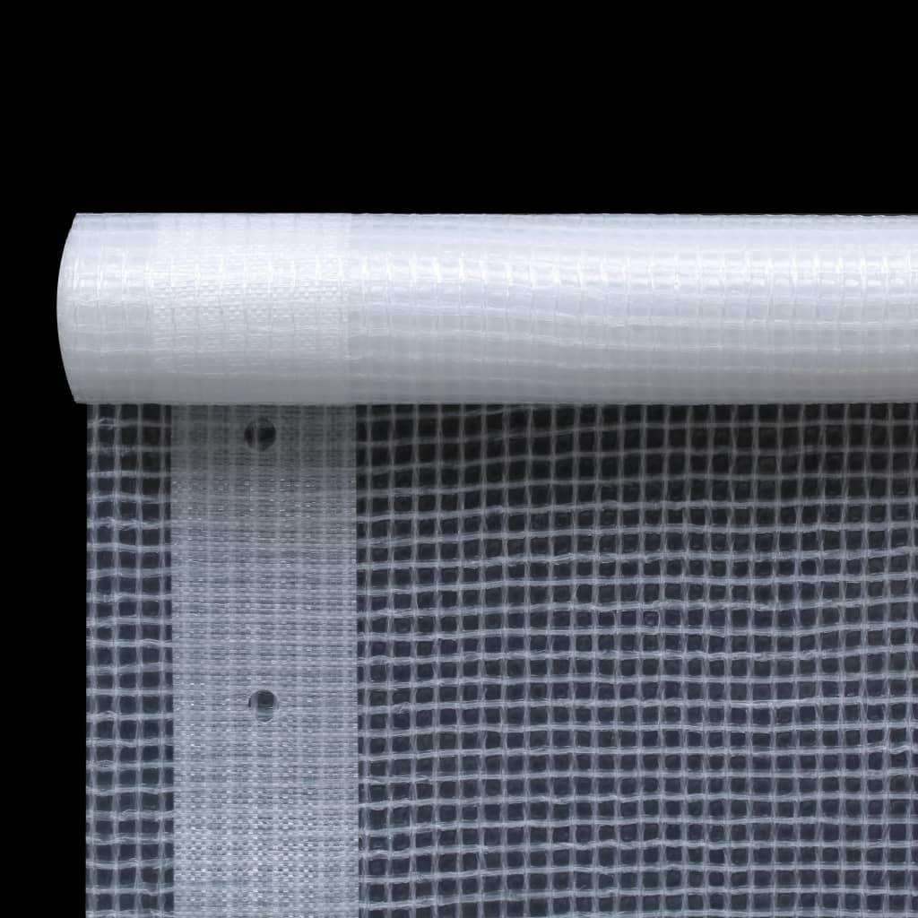 Leno presenning 260 g/m² 4x20 m vit