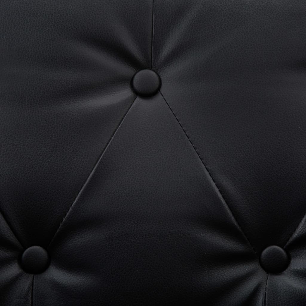 Soffgrupp 2 delar konstläder svart