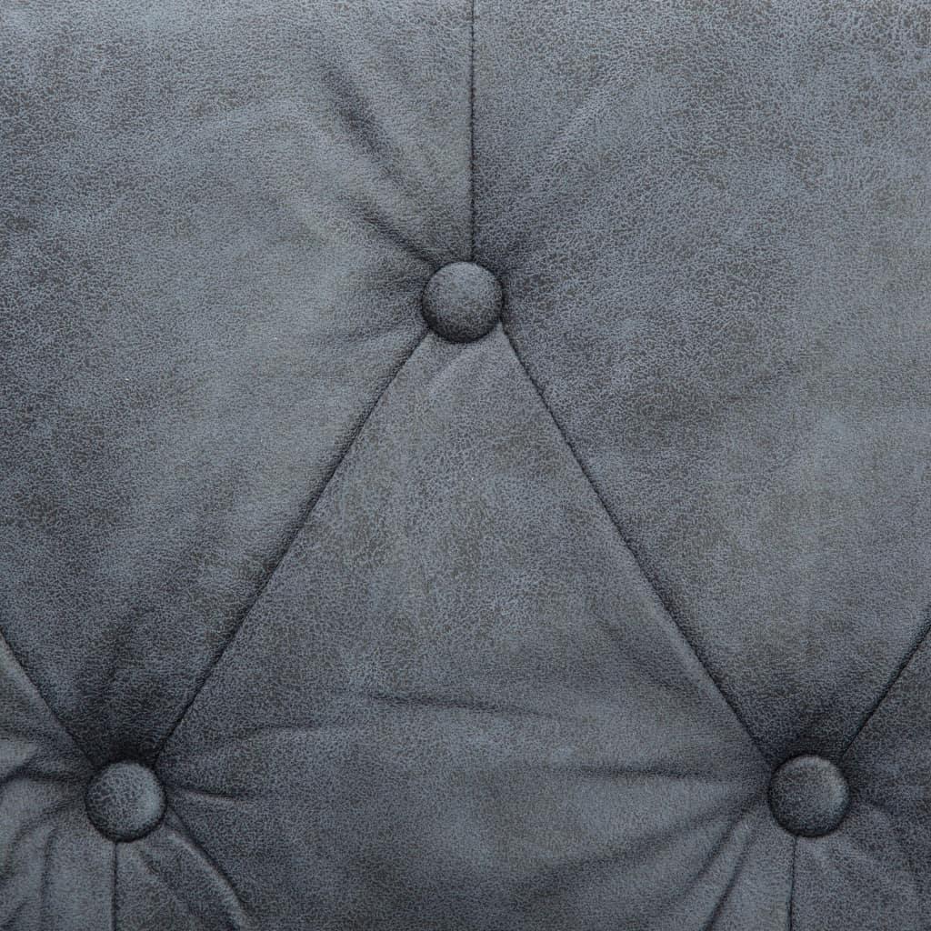 Chesterfieldsoffor 2 st tygklädsel grå