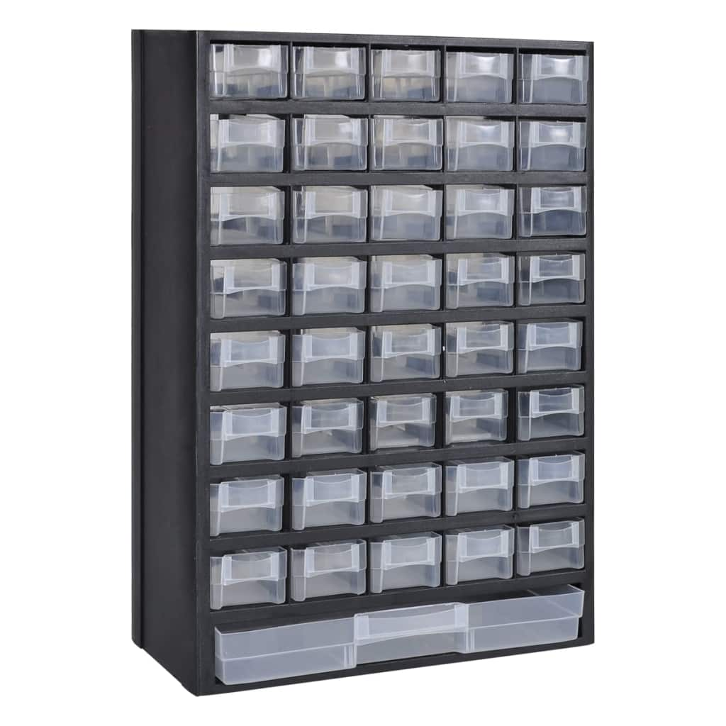 Smådelsförvaring 41 lådor 2 st plast