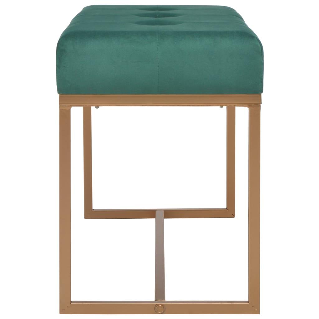 Bänk 80 cm grön sammet