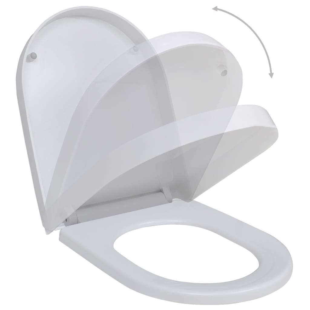 Toalettsitsar med mjuk stängning 2 st plast vit