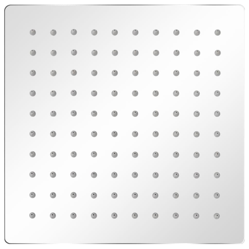 Regnduschhuvud 2 st rostfritt stål 20x20 cm