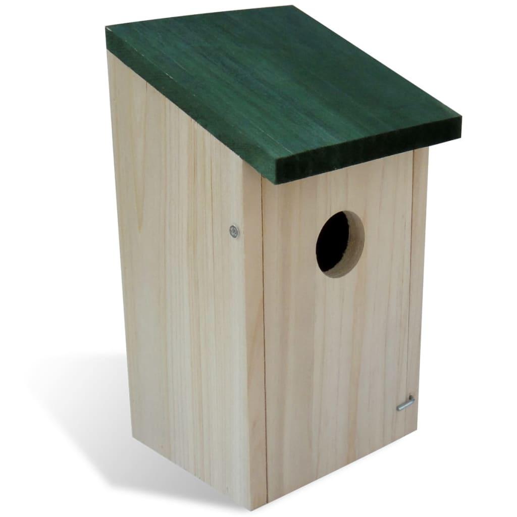 Fågelholkar 8 st trä 12x12x22 cm