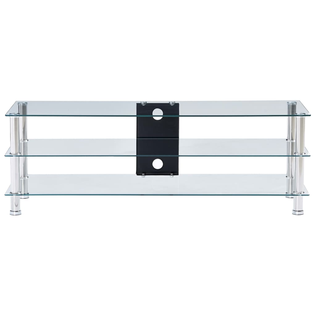 TV-bänk transparent 120x40x40 cm härdat glas