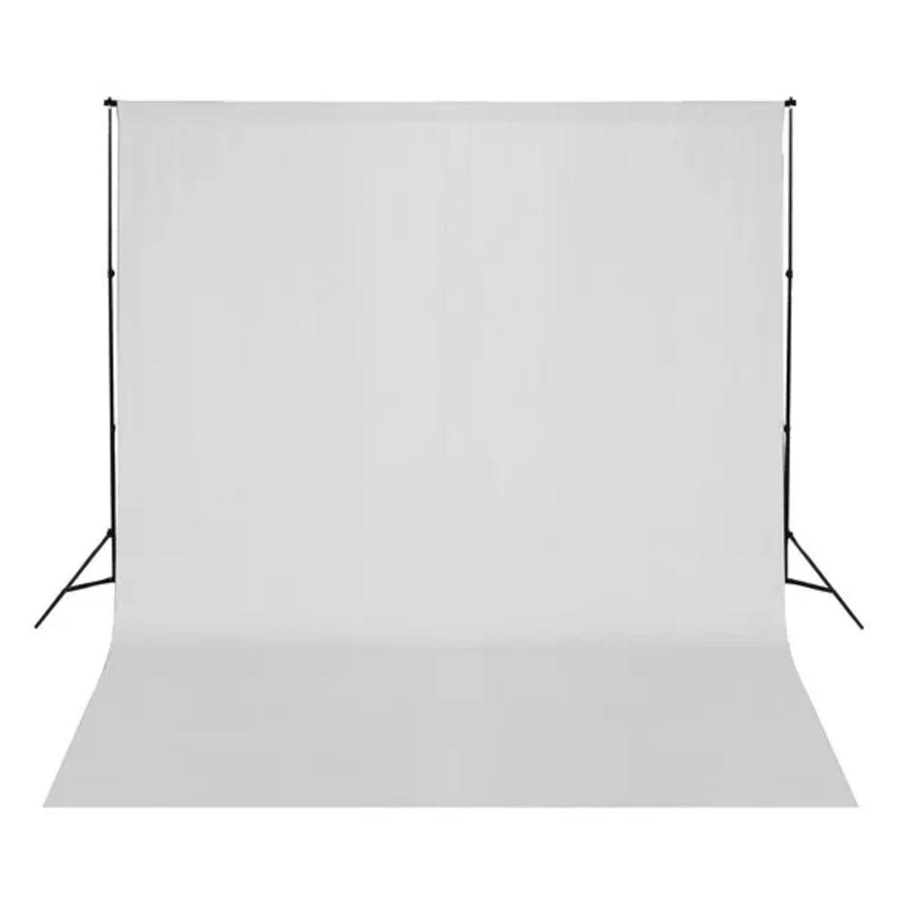 vidaXL Fotobakgrund bomull vit 300x300 cm