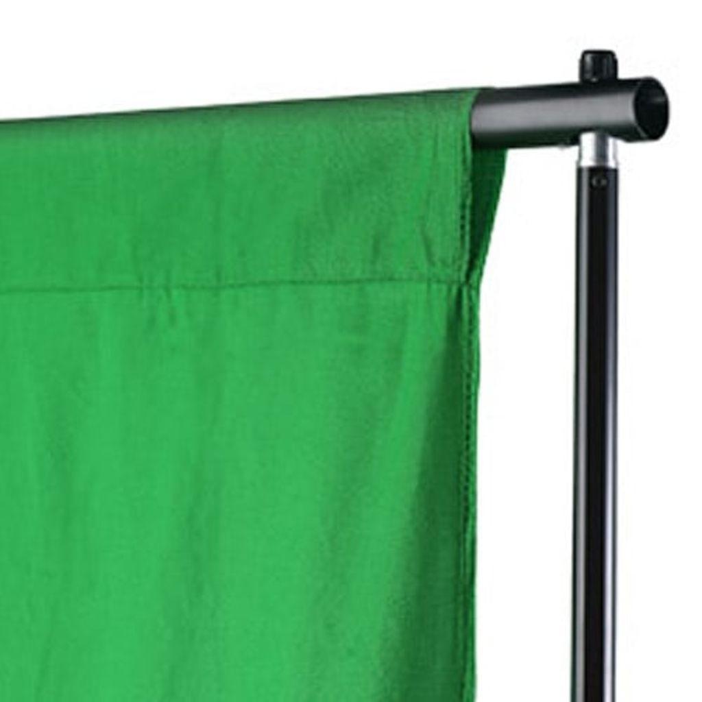 vidaXL Fotobakgrund bomull grön 500x300 cm chroma key
