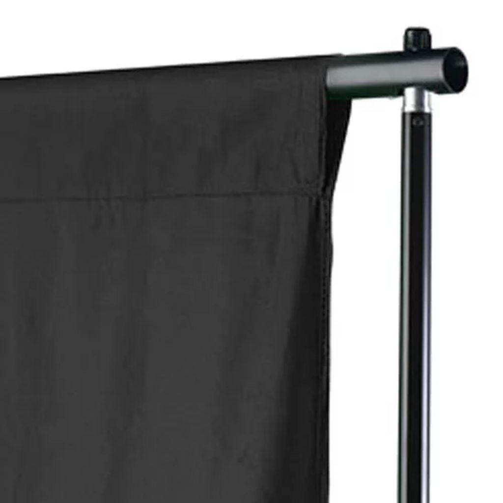 vidaXL Fotobakgrund bomull svart 500x300 cm