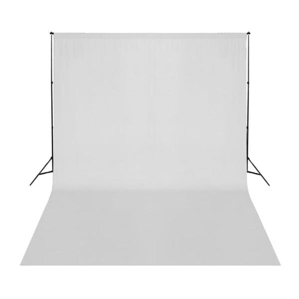 vidaXL Fotobakgrund bomull vit 500x300 cm