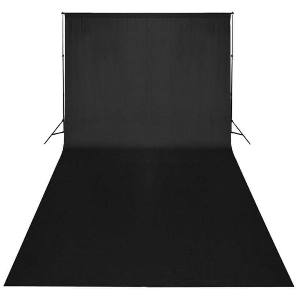 vidaXL Fotobakgrund bomull svart 600x300 cm