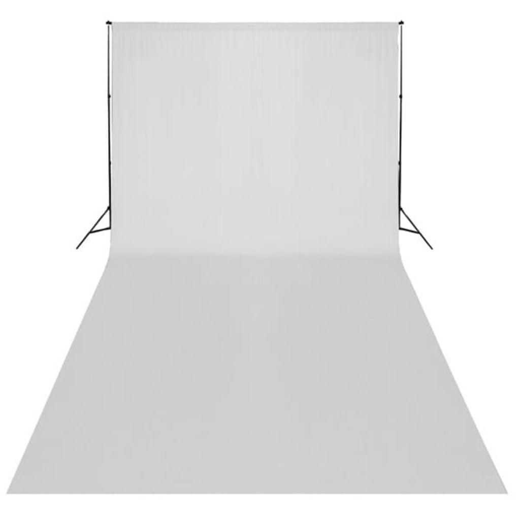 vidaXL Fotobakgrund bomull vit 600x300 cm