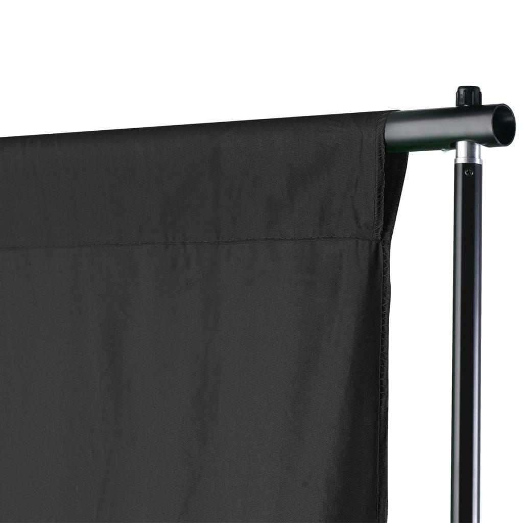 vidaXL Stativ och fotobakgrund 500 x 300 cm svart