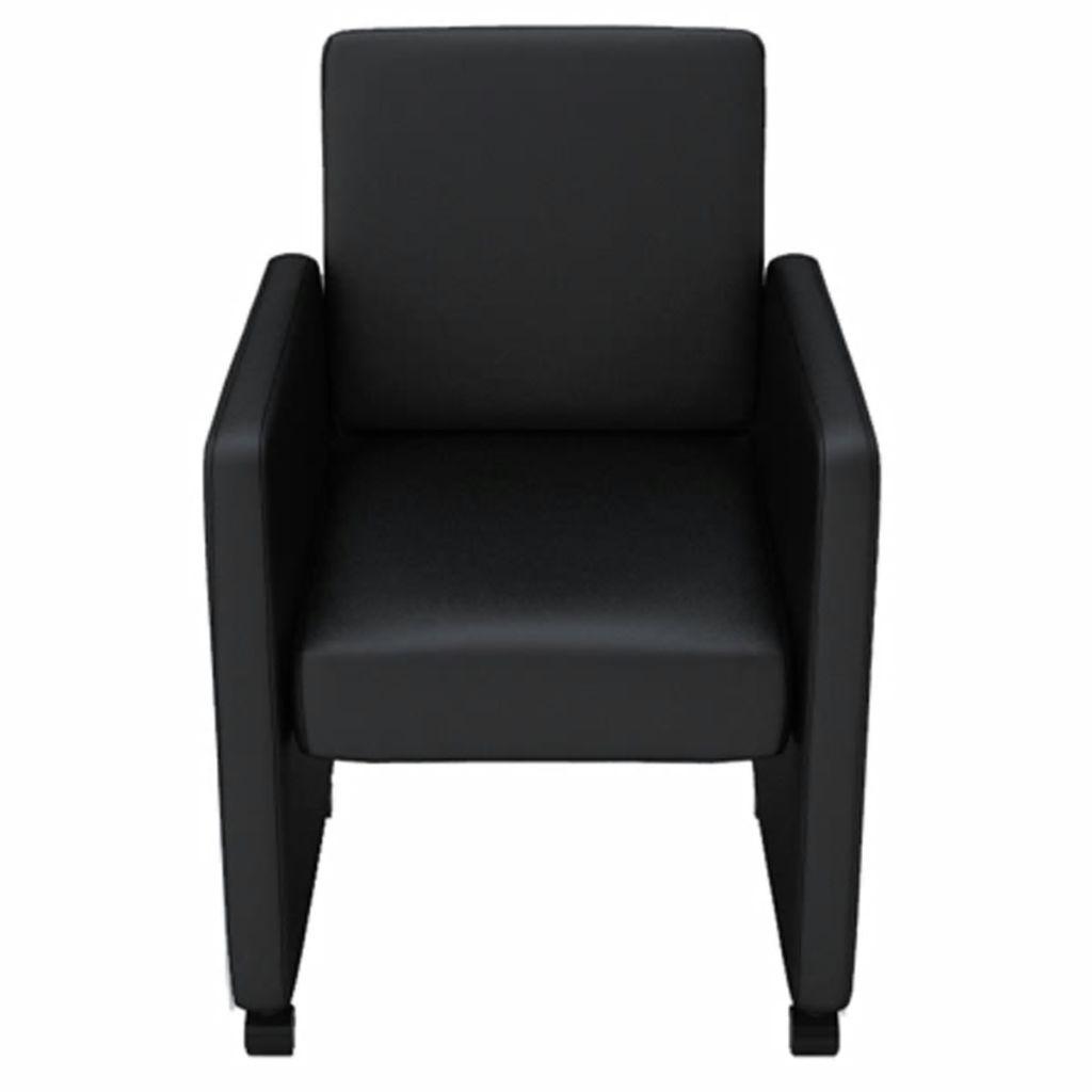 vidaXL Matstolar 4 st svart konstläder