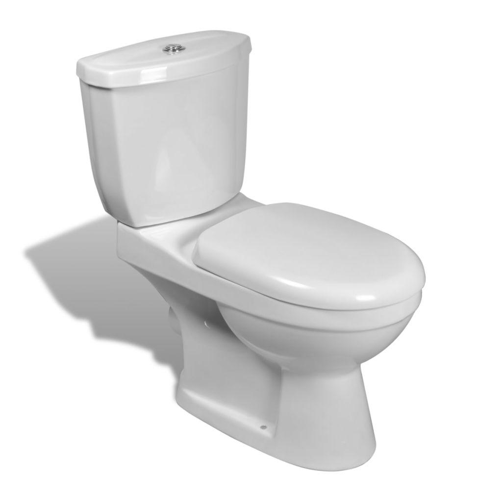 Toalettstol komplett med cistern vit