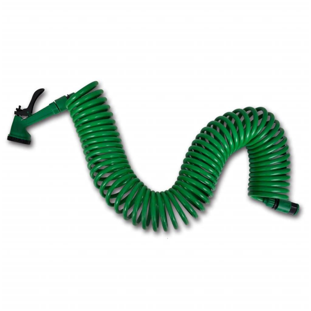 """Vattenslang och sprutmunstycke spiralformad 3/8"""" 15 m"""