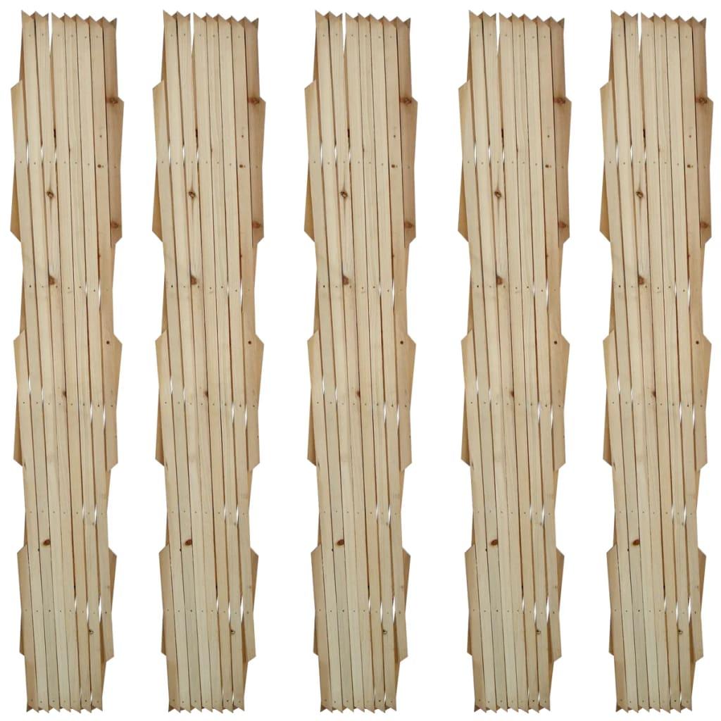Spaljéstaket 5 st massivt trä 180 x 90 cm