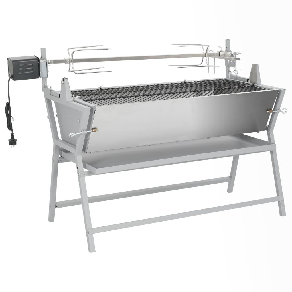 BBQ i järn och rostfritt stål med grillspätt