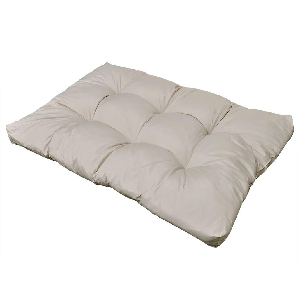 Sittdyna 120 x 80 x 10 cm sandvit