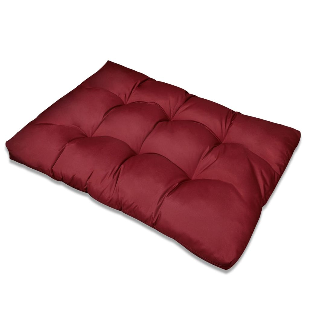Stoppad sittkudde Vinröd 120 x 80 x 10 cm