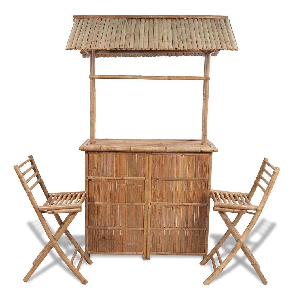 Caféset 3 delar bambu