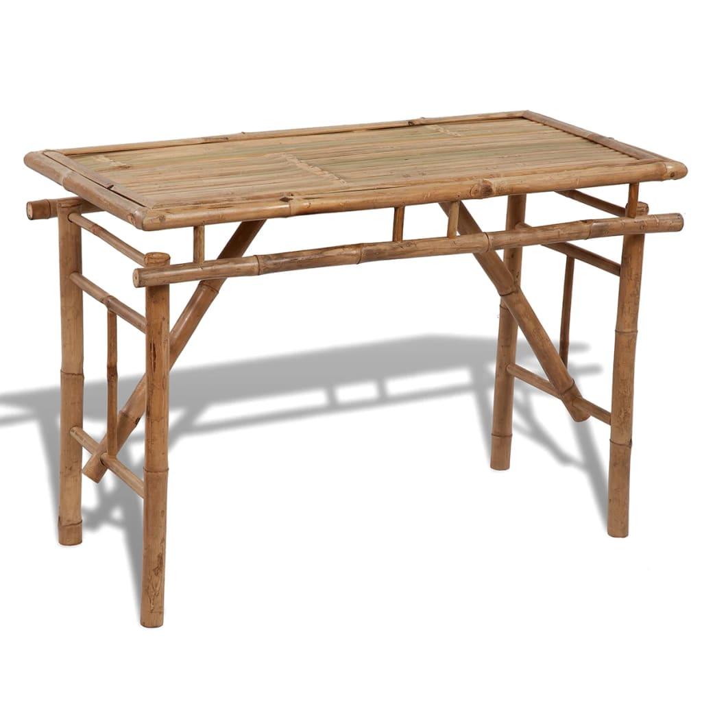 Hopfällbart trädgårdsbord 120x50x77 cm bambu