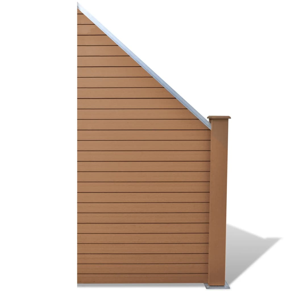 Staketpanel WPC 105x(105-185) cm brun