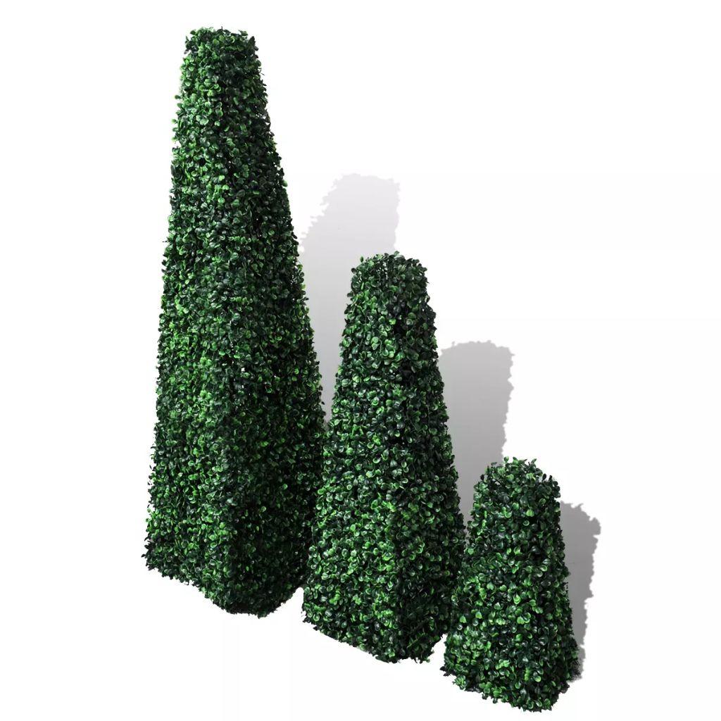 Buxbomträd pyramid 3 st