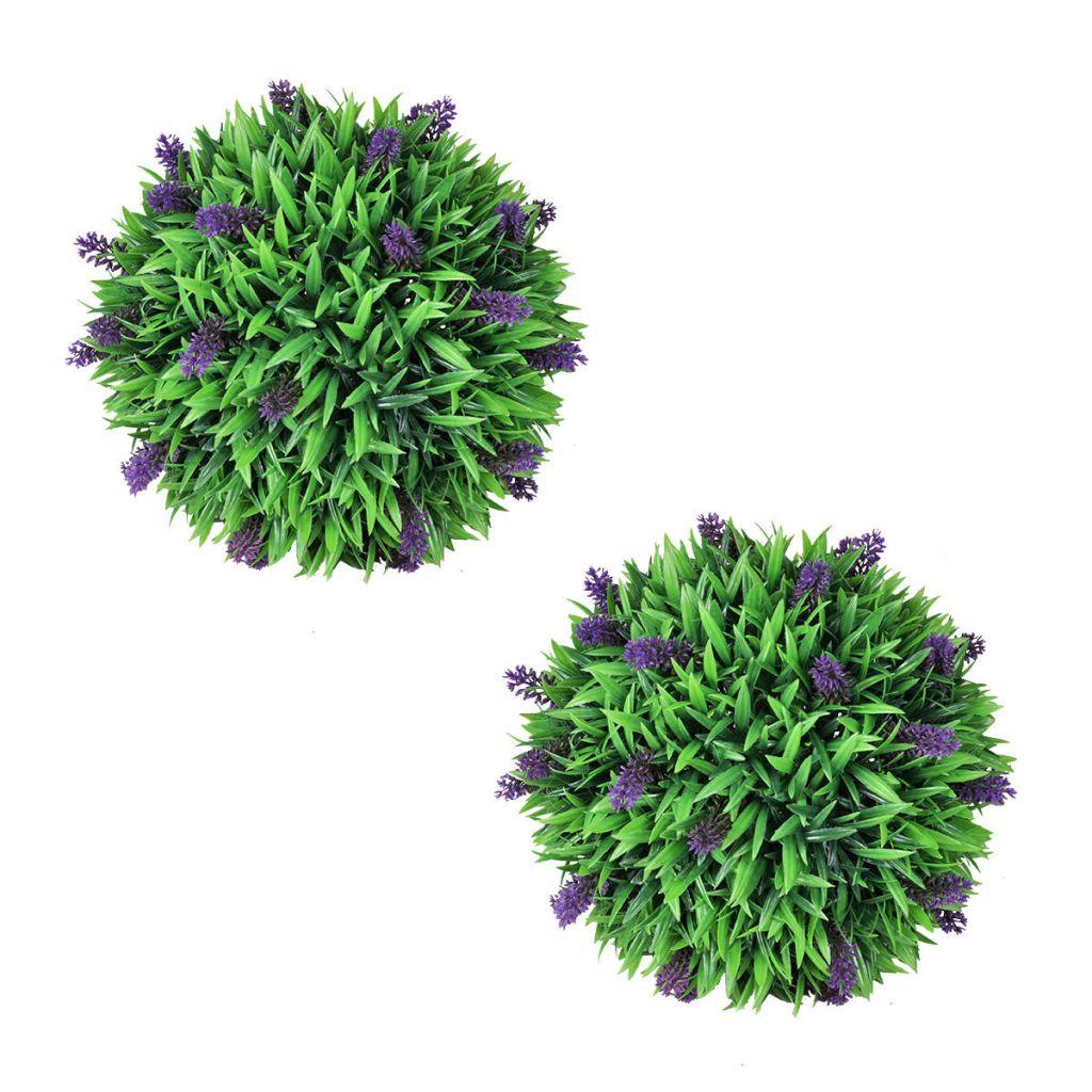 Konstväxt buxbomboll med lavendel 36 cm