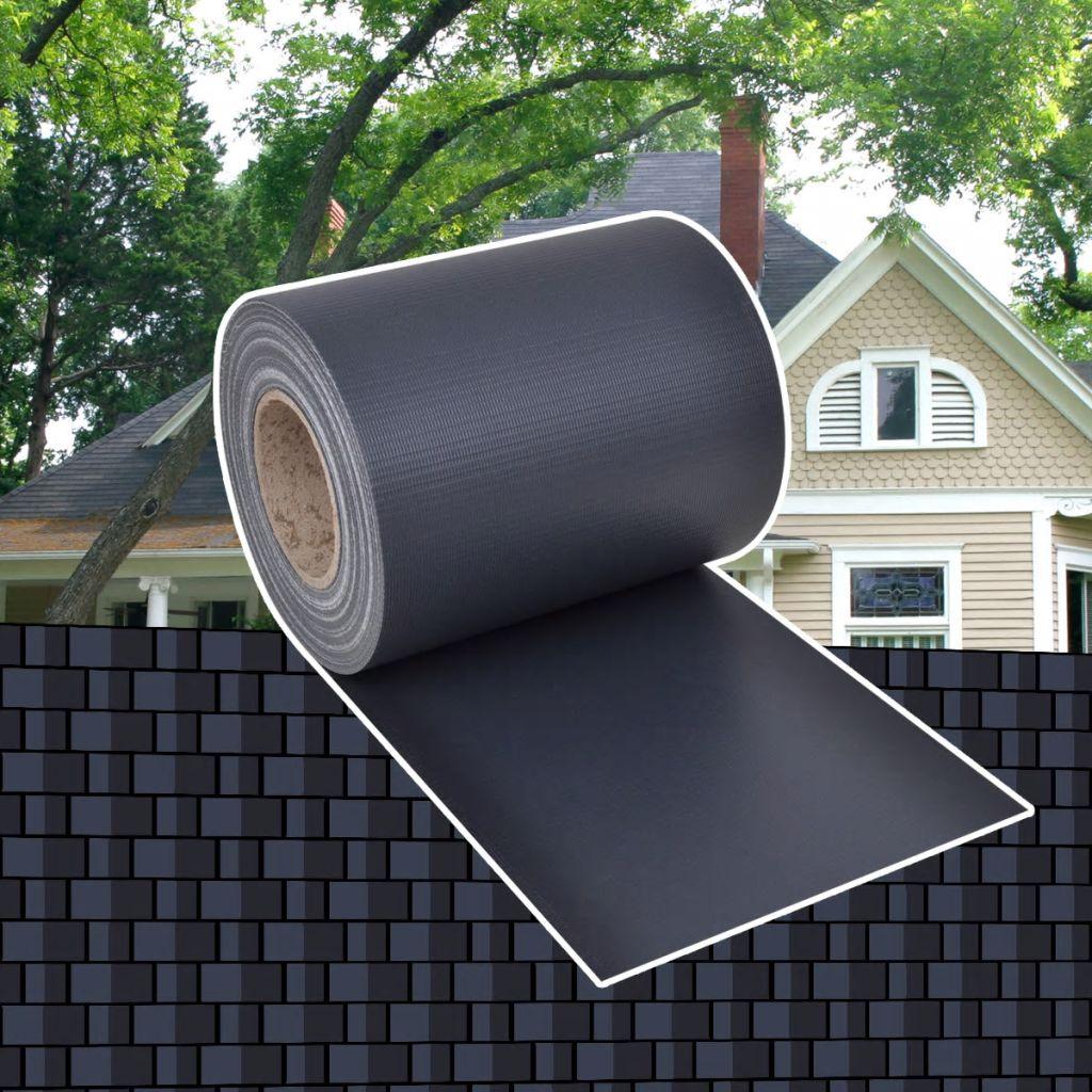 Insynsskydd för trädgården PVC 70x0,19 m mörkgrå