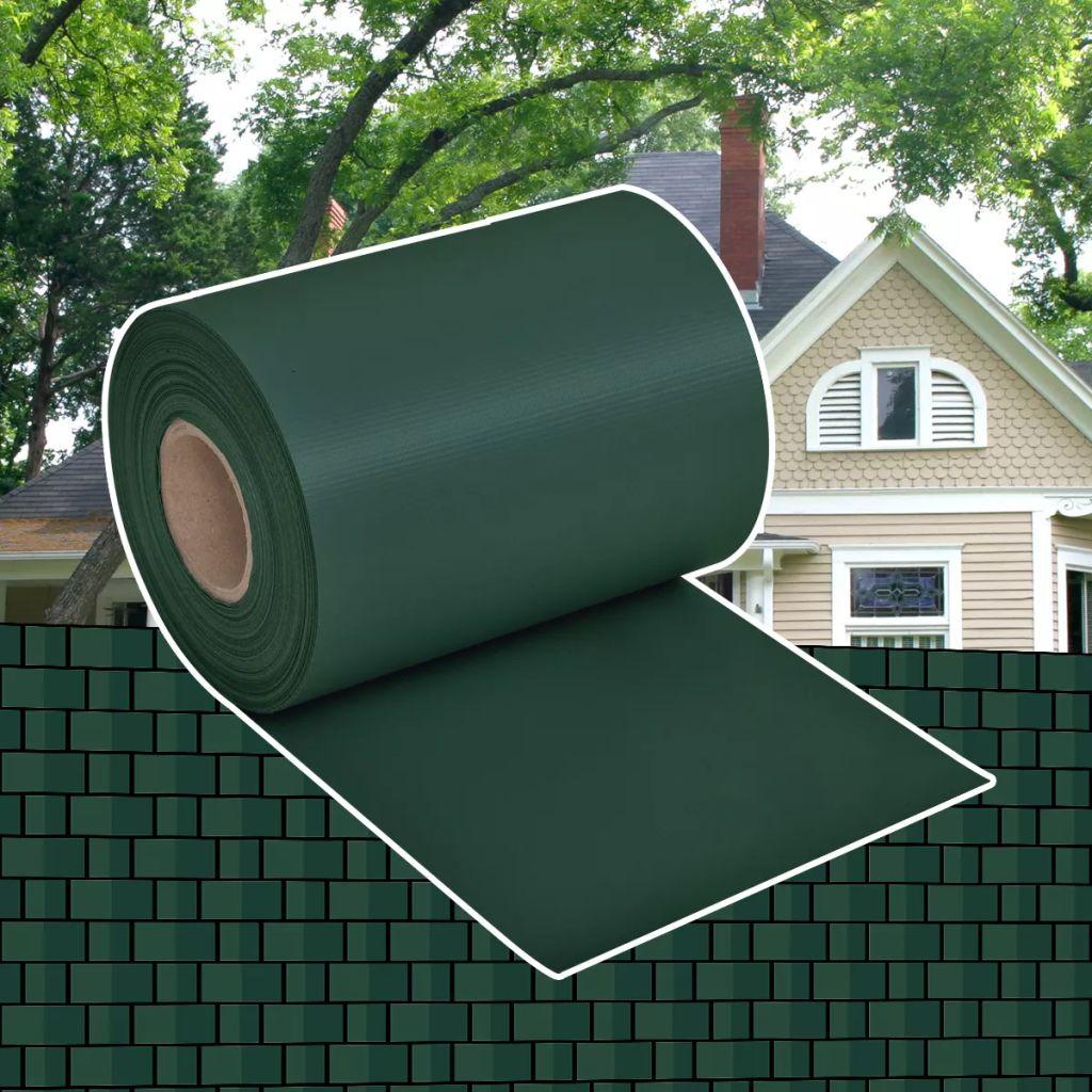 Insynsskydd för trädgården PVC 70x0,19 m grön