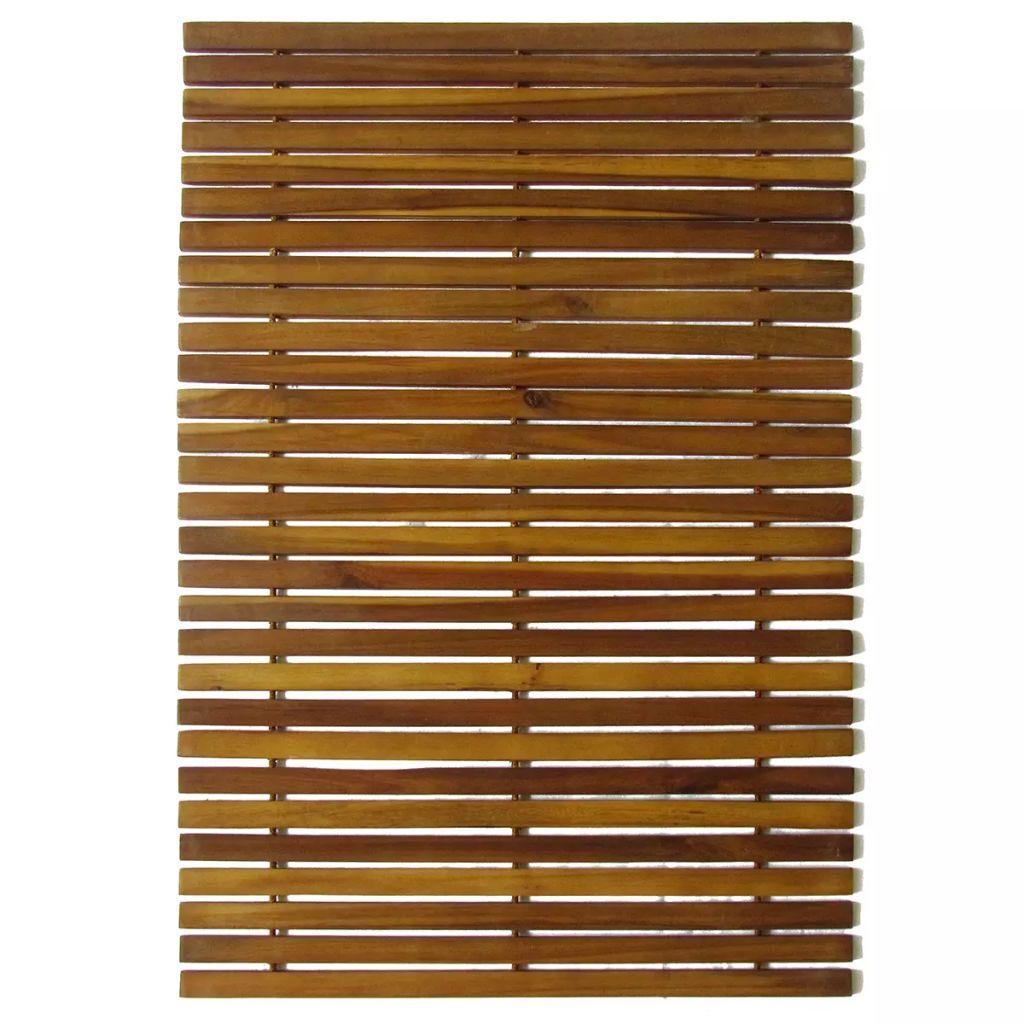 Badrumsmatta i akaciaträ 80 x 50 cm
