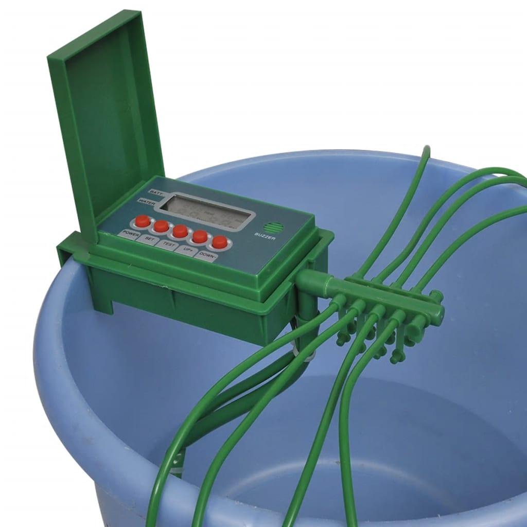 Automatiskt bevattningssystem med vattenspridare och timer