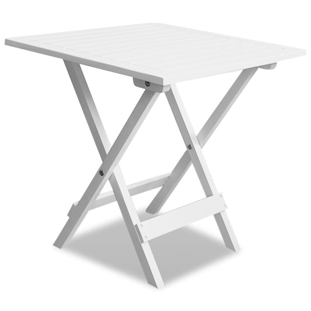Cafébord vit 46x46x47 cm massivt akaciaträ