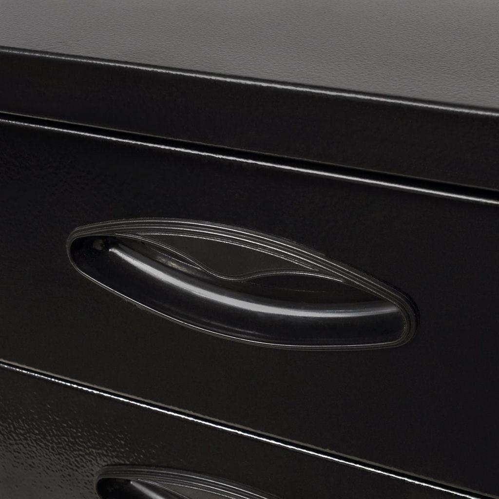 vidaXL Verktygslåda i metall 3 lådor svart