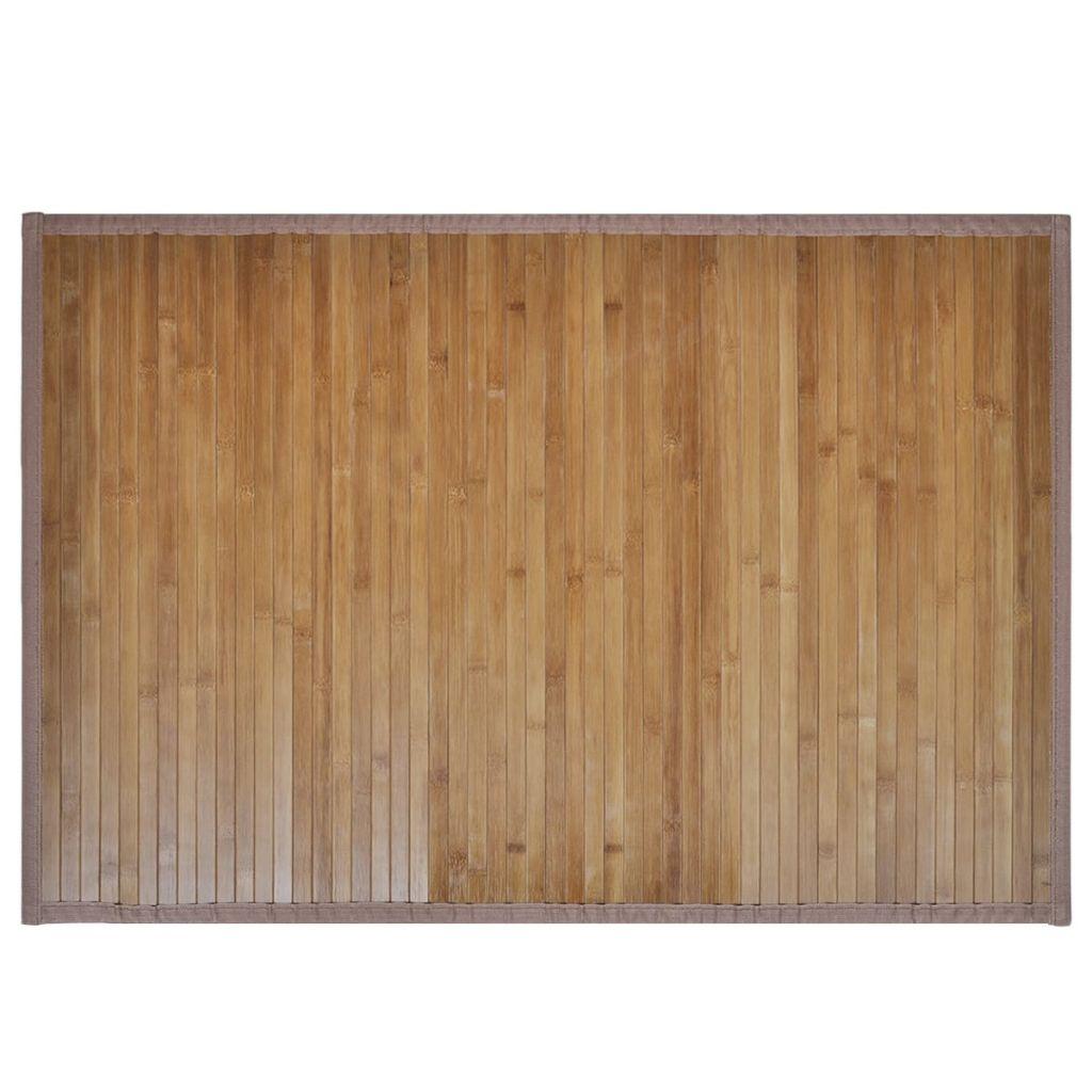 Badrumsmatta i bambu 60 x 90 cm brun