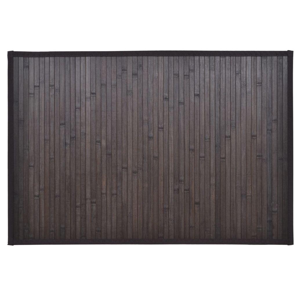 Badrumsmatta i bambu 60 x 90 cm mörkbrun