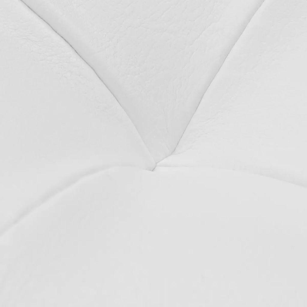 vidaXL Ottoman med förvaring konstläder vit